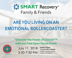 SMART Recovery Family & Friends Open House Event @ Eastern Shore Community College